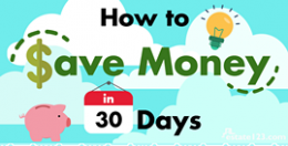 [Infographic] 10 Ways to Save Money in 30 Days