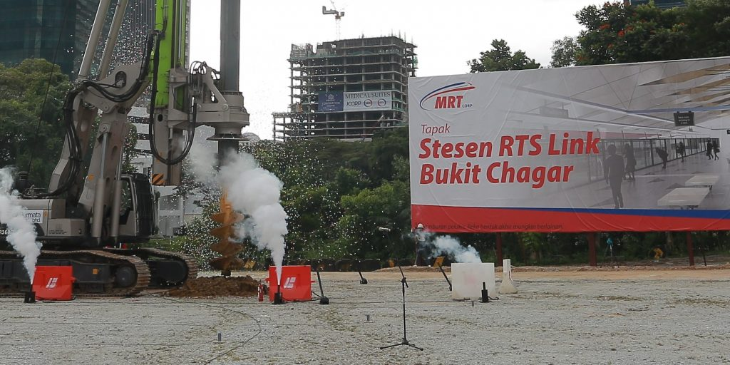 Groundbreaking ceremony of the Johor Baru-Singapore Rapid Transit System (RTS) Link