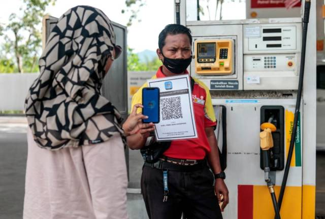 mysejahtera QR code shell petrol station fuel scan